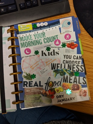 Jan 2019 Intentions and Vision Board